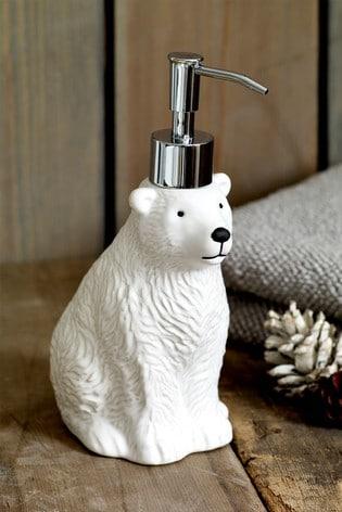 Polar Bear Soap Dispenser
