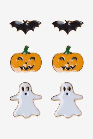 Multicolour Halloween Stud Earrings 3 Pack