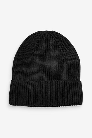 Black Recycled Beanie Hat