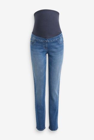 Mid Blue Maternity Slim Jeans