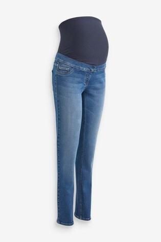 Mid Blue Maternity Slim Jeans