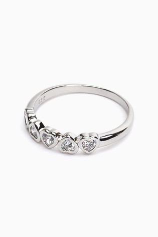 Sterling Silver Sparkle Heart Ring