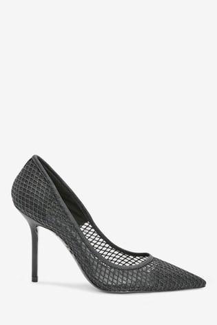Buy Black Sparkle Point Court Shoes