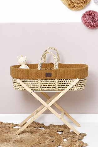 The Little Green Sheep Moses Basket Honey