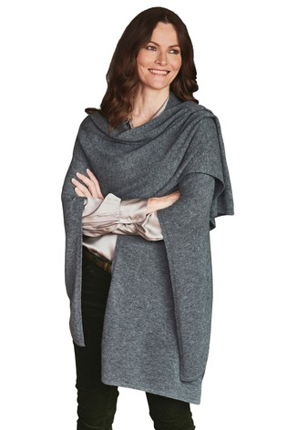 Pure Collection Grey Gassato Knitted Wrap