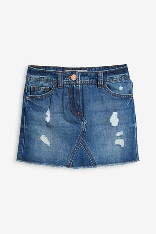 Mid Wash Denim Skirt (3-16yrs)