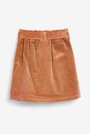 Camel Tie Belt Cord Skirt (3-16yrs)