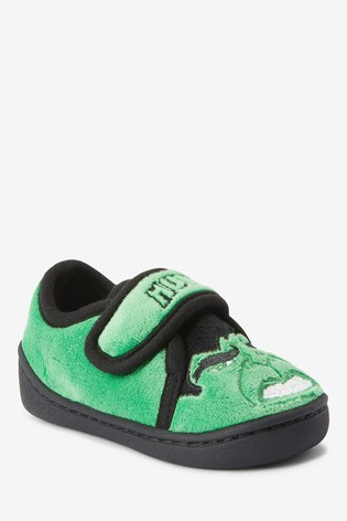 Green Incredible Hulk Slippers (Younger)