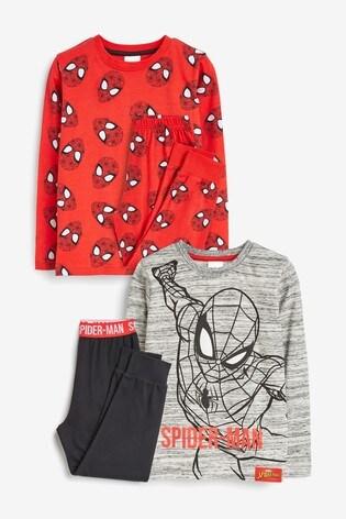 Red/Black 2 Pack Spider-Man™ Pyjamas (9mths-10yrs)