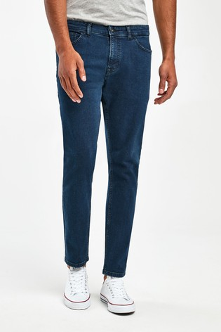 Deep Blue Slim Fit Jeans With Stretch
