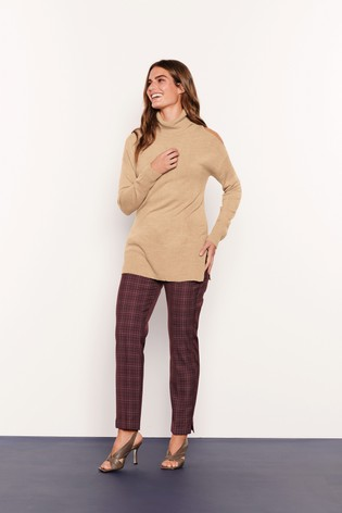 Berry Check Slim Trousers