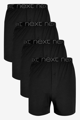 Black Loose Fit Pure Cotton Four Pack