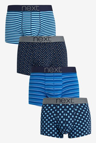 Blue Pattern Hipsters Four Pack