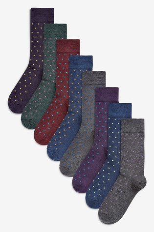 Multi Small Spot Socks Eight Pack