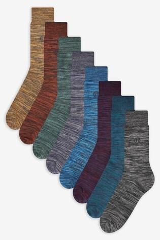 Rich Marl Socks Eight Pack