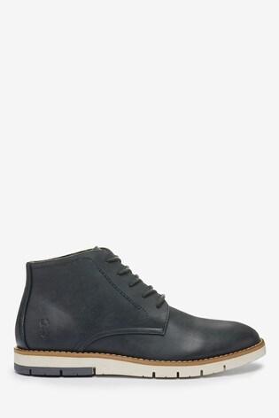 Navy Sport Chukka Boots