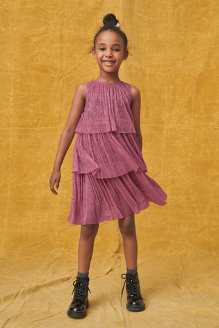 Pink Tiered Party Dress (3-16yrs)