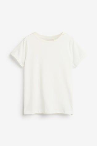 White Pure Organic Cotton Regular Fit T-Shirt (3-16yrs)