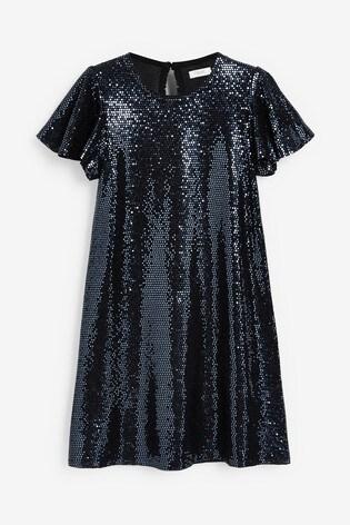 Navy Sparkle Dress (3-16yrs)