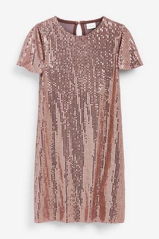 Pink Sparkle Dress (3-16yrs)