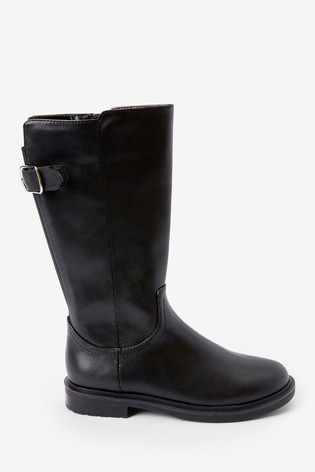 Black Tall Buckle Boots (Older)