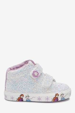 Iridescent Glitter Disney™ Frozen 2 High Top Trainers (Younger)