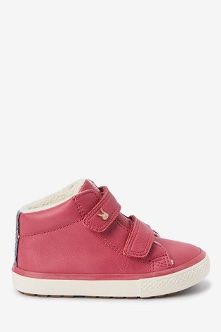 Raspberry Touch Fastening High Top Boots (Younger)