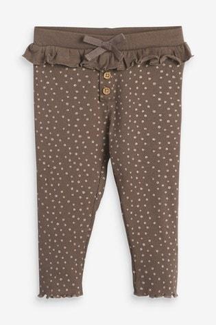 Chocolate Glitter Spot Leggings (3mths-7yrs)