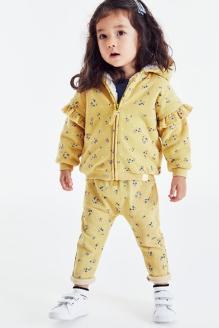 Ochre Floral Joggers Soft Touch Jersey (3mths-7yrs)
