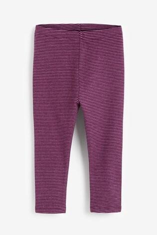 Purple Stripe Soft Touch Leggings (3mths-7yrs)