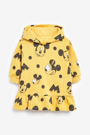 Ochre Mickey Mouse™ Longline Peplum Hoody (3mths-7yrs)