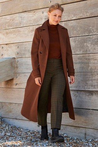 Brown Emma Willis Check Straight Trousers