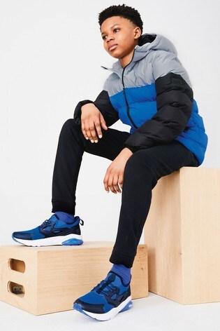 Blue Colourblock Padded Jacket (3-16yrs)
