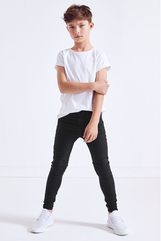 Black Super Skinny Fit Five Pocket Jeans (3-16yrs)