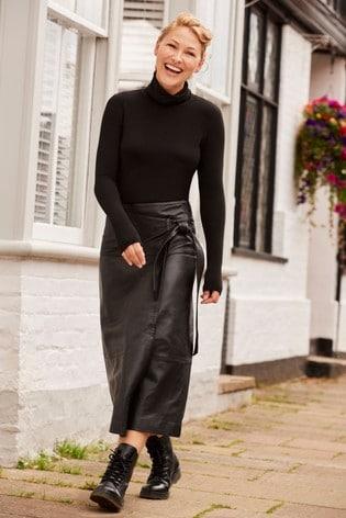 Black Emma Willis Roll Neck Long Sleeve Top