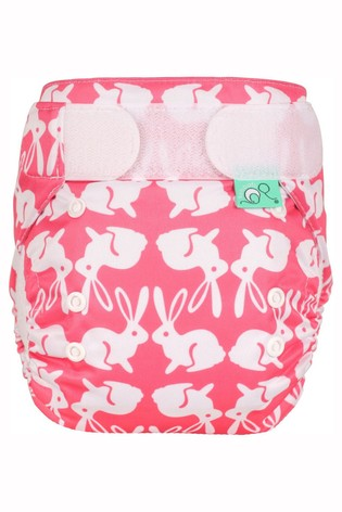 TotsBots EasyFit Star All-in-One Reusable Nappy Bummy Wabbit