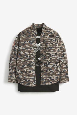 Camouflage Long Sleeve Shirt And T-Shirt Set (3-16yrs)