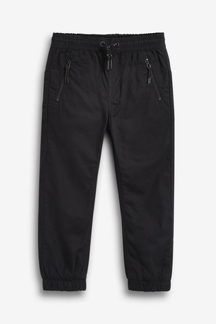 Black Utility Pull-On Trousers (3-16yrs)