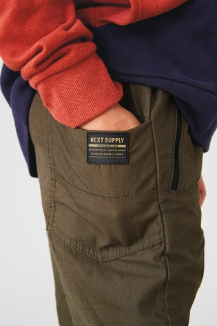 Khaki Utility Pull-On Trousers (3-16yrs)
