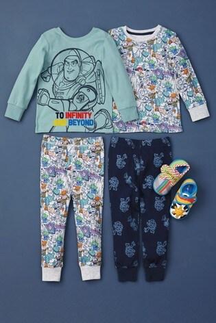 Multi 2 Pack Disney™ Toy Story Reversible Snuggle Pyjamas (9mths-8yrs)