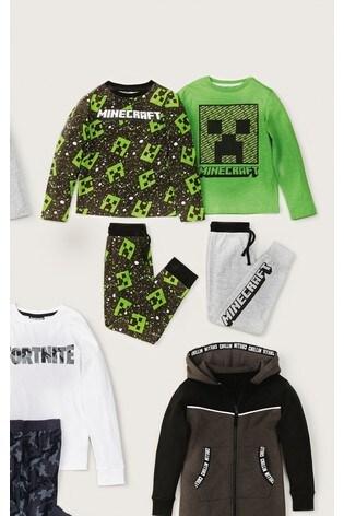 Green 2 Pack Minecraft Pyjamas (3-16yrs)