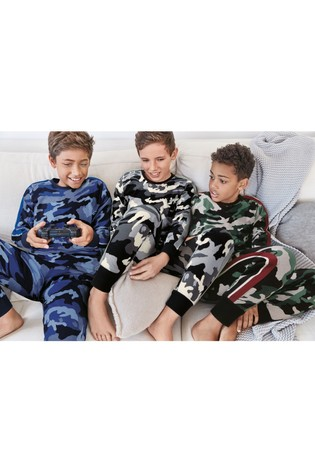 Multi Camouflage 3 Pack Pyjamas (3-16yrs)