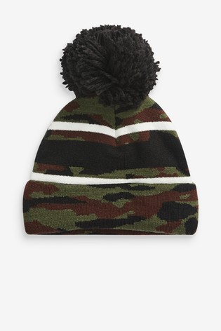 Camouflage Hat, Gloves And Scarf Three Piece Set (Older)