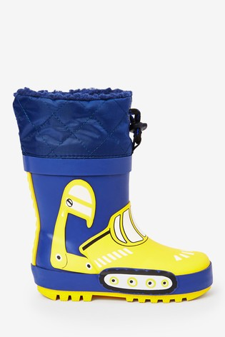 Navy Digger Thinsulate™ Cuff Wellies (Younger)