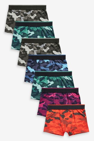 Bright Camo 7 Pack Trunks (2-16yrs)