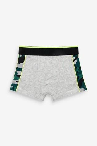 Green 7 Pack Camo Trunks (2-16yrs)