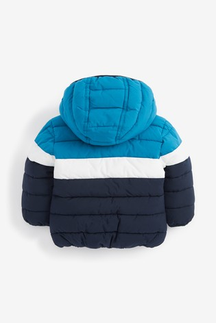 Teal Colourblock Padded Jacket (3mths-7yrs)
