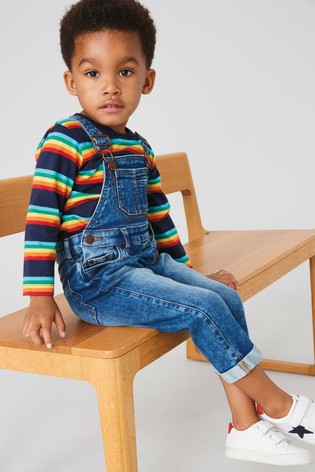 Mid Blue Authentic Dungarees (3mths-7yrs)
