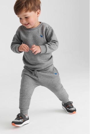MId Grey Crew and Joggers Jersey Set (3mths-7yrs)