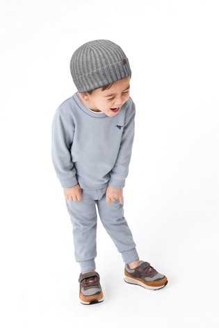 Pale Blue Crew and Joggers Jersey Set (3mths-7yrs)